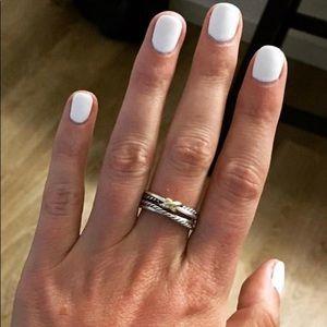 David Yurman X Crossover Ring, Size 7